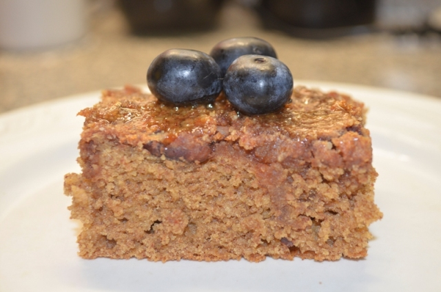 date-sweetened coffee cake