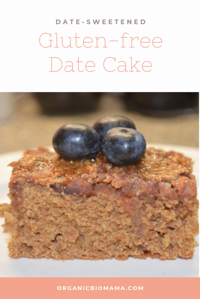 No sugar Date-sweetened cake recipe gluten free