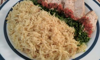 Fried Basmati Rice cooked with Coconut oil and Spices (Recipe with Photos)