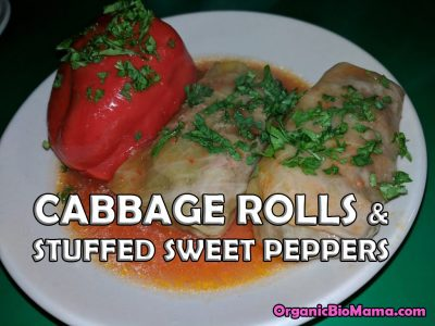 cabbage rolls and stuffed green peppers