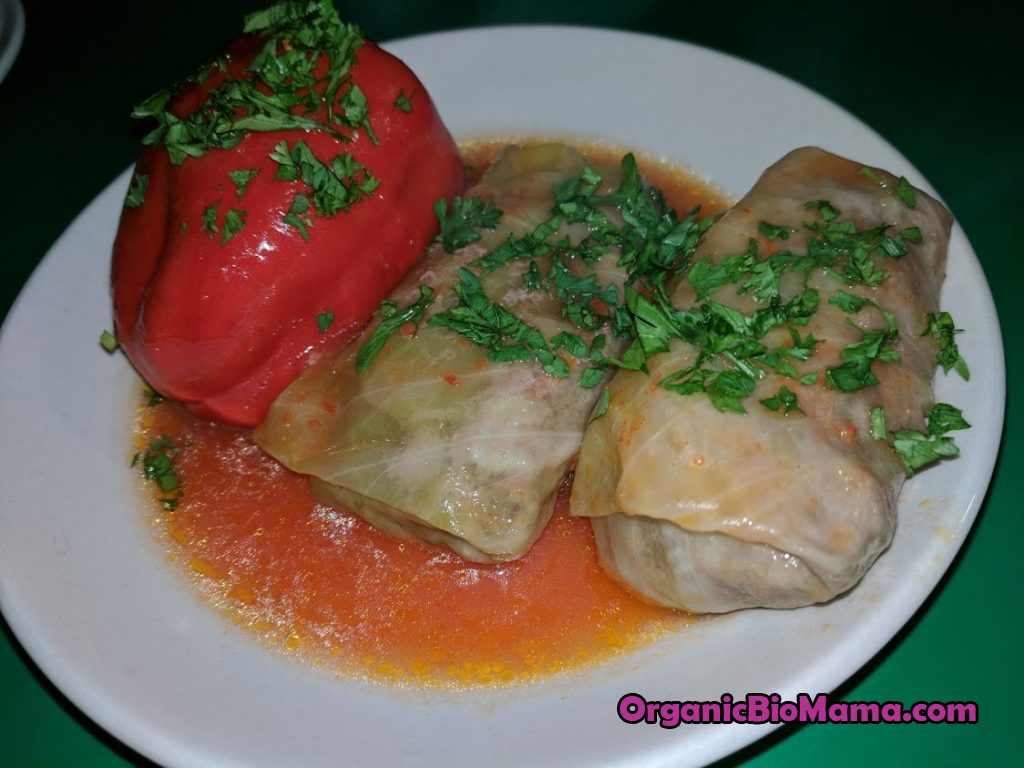 Cabbage Rolls and Stuffed Sweet Peppers