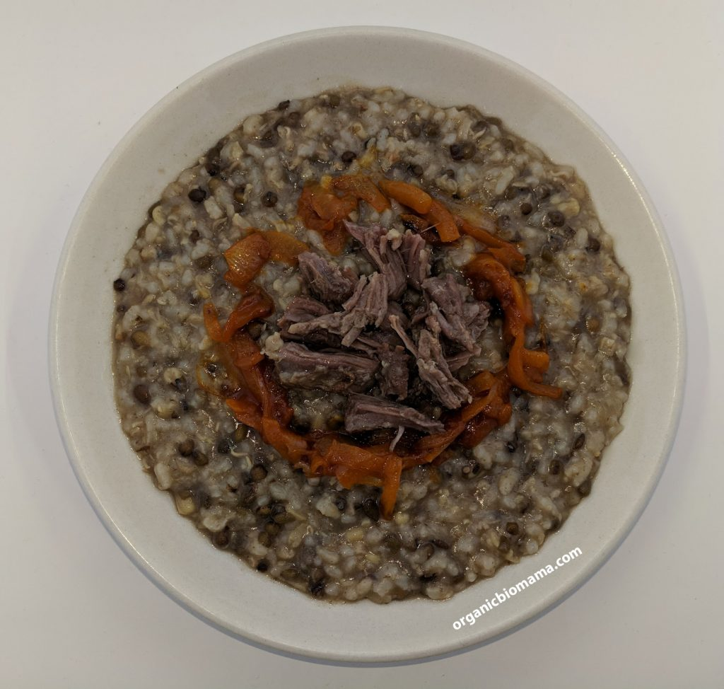 sprouted mung bean porridge with rice and meat