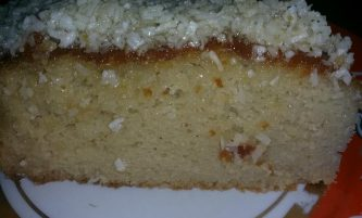 Coconut Butter Cake Recipe with Coconut Frosting (No flour, No grain, No sugar)