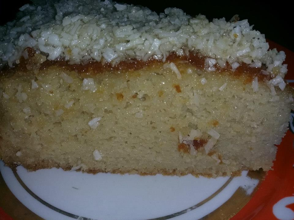 gluten free coconut cake with coconut frosting