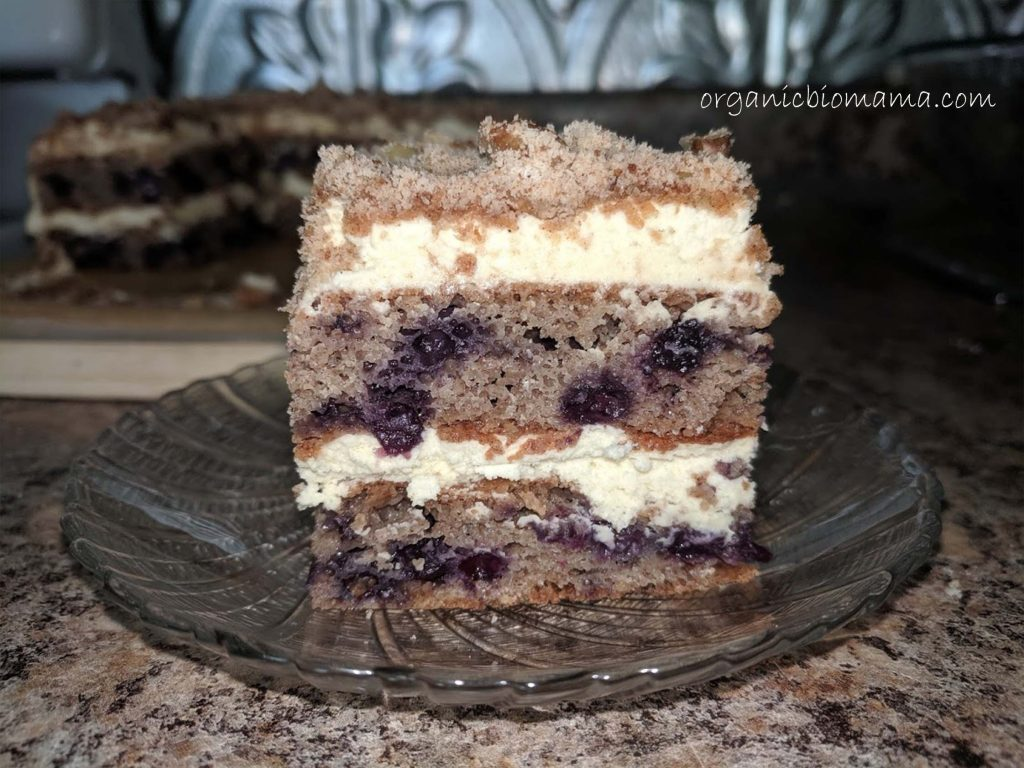 BLUEBERRY COFFEE CAKE - No Sugar Date Cake