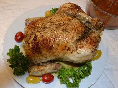 BAKED WHOLE CHICKEN - Juicy Whole Roasted Chicken