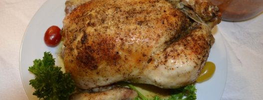 VERY JUICY BAKED WHOLE CHICKEN – Whole Roasted Chicken + Sauce