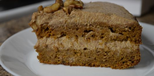 Healthy Date-sweetened CARROT CAKE, which tastes AMAZING!