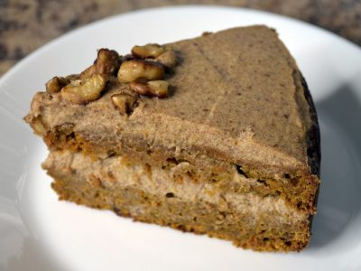 healthy date sweetened carrot cake
