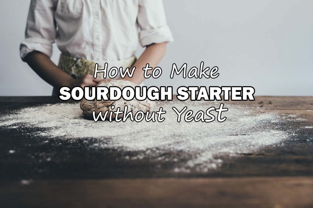 Sourdough Starter Recipe without Yeast (no discard)